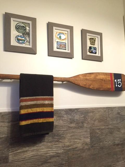 Vintage Paddle Turned Towel Rack