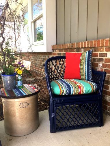 Flea Market Wicker Furniture Makeover