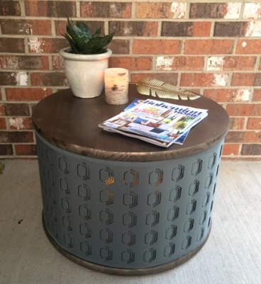 IKEA Lampshade transformed into coffee table